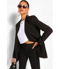 tailored oversized boyfriend blazer, black