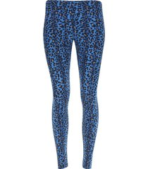 legging sport animal color azul, talla s
