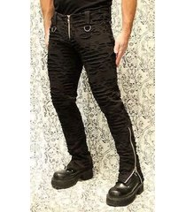 shrine decayed dead punker bondage goth punk rocker skinny pants mens s-2xl