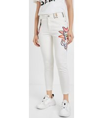 skinny illustration jeans - white - 46
