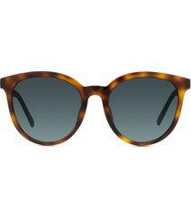 dior 30montaigne mini 51mm gradient round sunglasses in brown havana/blue at nordstrom