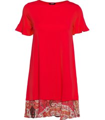 vest kali dresses t-shirt dresses rood desigual