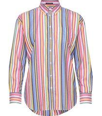 d1. multi stripe exb shirt overhemd met lange mouwen multi/patroon gant