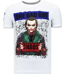 t-shirt korte mouw local fanatic stoere the joker man