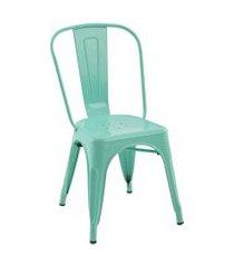conjunto 04 cadeiras iron verde rivatti