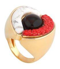 anel feminino orfeu pb em bronze - ouro