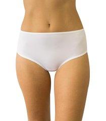 calcinha fio duplo cintura alta qtal lingerie básico branco
