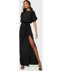 ax paris short sleeve belt maxi dress maxiklänningar