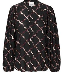 blouse met bloemenprint louis  zwart