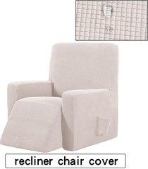 silla reclinable resistente al agua ala muebles sofá salón funda protector de la cubierta - amarillo claro