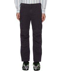 knee panel slim fit cargo pants