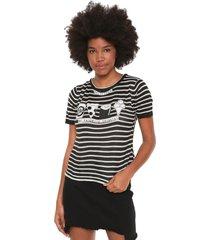 blusa my favorite thing(s) tricot estampada preta/branco