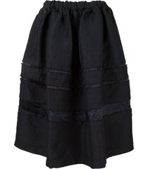 comme des garçons comme des garçons textured a-line skirt - black