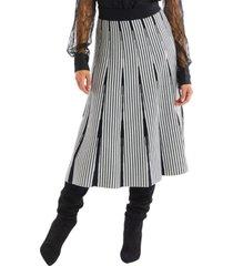 allison new york women's stripe knit skirt