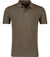 poloshirt hugo boss big & tall bruin