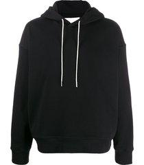 jil sander oversized boxy hoodie - black