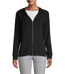 cozy zip-front cotton hoodie