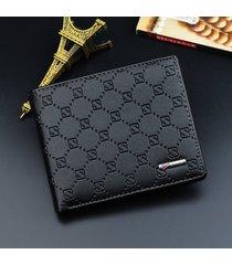 billetera super- billetera billetera de cuero corta-negro
