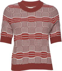 hildeiw pullover t-shirts & tops knitted t-shirts/tops rood inwear