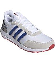 tenis fashion adidas retrorun - blanco-azul