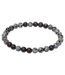 jos. a. bank snowflake obsidian bead bracelet clearance