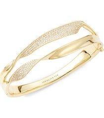 stardust twisted double ribbon 18k yellow gold & diamond bracelet
