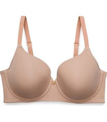 natori chic comfort bra, t-shirt bra, women's, beige, size 36d natori