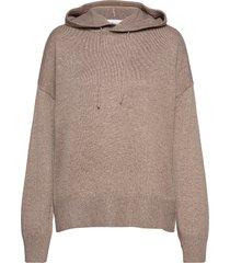 multe hoodie knit hoodie trui beige camilla pihl