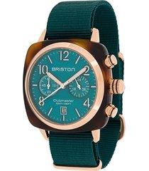 briston watches clubmaster classic 40mm watch - green