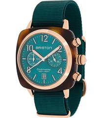 briston watches clubmaster classic 40mm watch - green