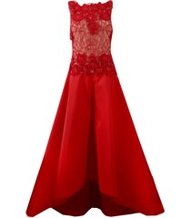 beaded taffeta gown