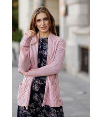 różowy sweter bez zapięcia lidia