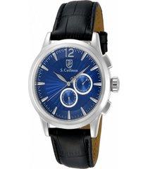 reloj s.coifman sc0262 negro cuero hombre