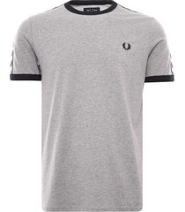 fred perry taped ringer t-shirt | steel marl | m6347-291