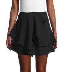 iro women's cabred tiered mini skirt - black - size 34 (2)