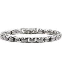 konstantino 'minos' etched dot link bracelet in silver at nordstrom