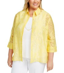 alfred dunner plus size riverside drive layered necklace top