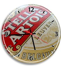 relógio de parede decorativo logo stella artois único