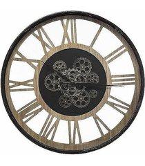 zegar metalowy z widocznym mechanizmem 57 cm