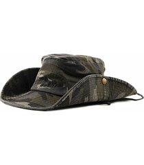 cappellino per parasole per cappelli da arrampicata all'aperto in cotone mimetico