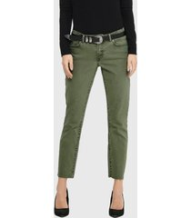 jeans only straight verde - calce slim fit
