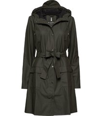 curve jacket regenkleding groen rains