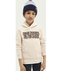 scotch & soda embroidered graphic hoodie