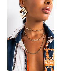 akira pisces pave layered necklace