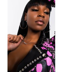 akira babygirl mid length nameplate necklace