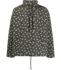 martine rose floral print fleece sweatshirt - green