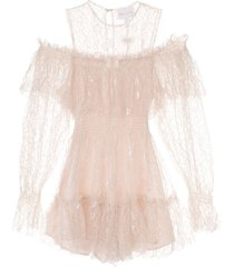 alice mccall one in a million lace playsuit - pink