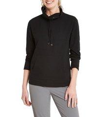 women's nic+zoe perfect knit top, size small - black