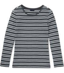 tommy hilfiger adaptive striped women's crewneck top