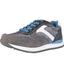 zapatilla retro gris/azul lag